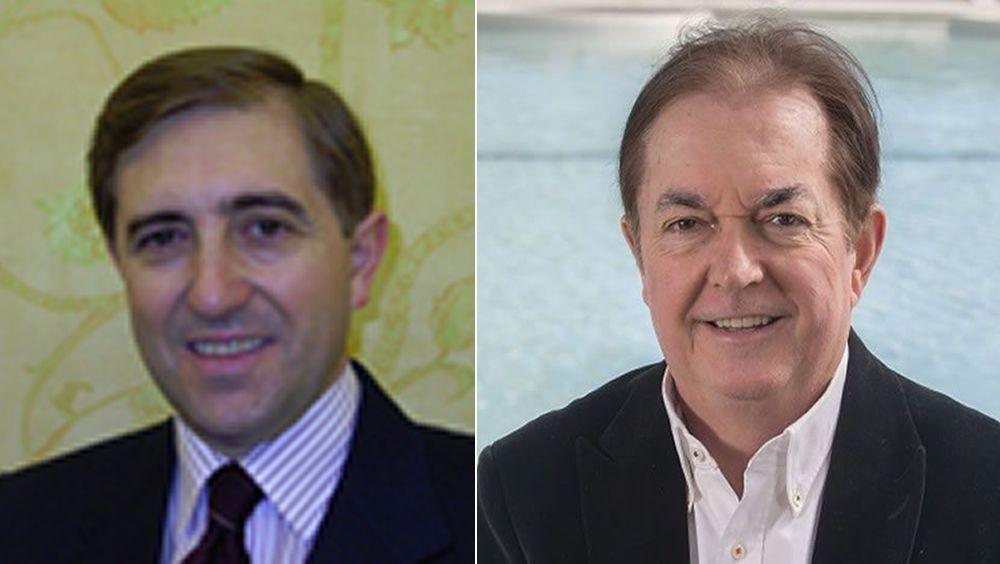 De izquierda a derecha: José Jesús Ruiz Joyanes y Rafael Torres, miembros de la Junta Directiva de la Asociación Española de Médicos Naturistas (AEMN)