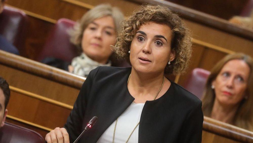 La exministra de Sanidad y actual portavoz del PP en el Congreso, Dolors Montserrat, durante una sesión de control al Gobierno.