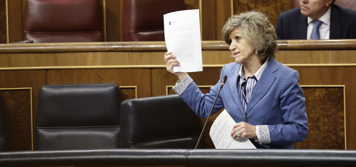 María Luisa Carcedo, ministra de Sanidad, interviniendo en el Congreso de los Diputados (Foto: PSOE)