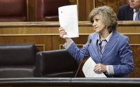 María Luisa Carcedo, ministra de Sanidad, interviniendo en el Congreso de los Diputados (Foto. PSOE)