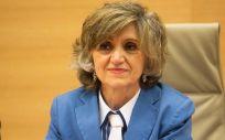 María Luisa Carcedo, ministra de Sanidad, en su primera comparecencia en la Comisión de Sanidad del Congreso.
