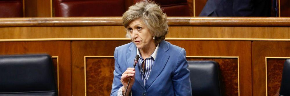 María Luisa Carcedo, ministra de Sanidad, interviniendo en el Congreso de los Diputados.