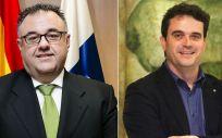 Conrado Domínguez y Adrià Comella, directores del Servicio Canario de Salud y del Servicio Catalán de Salud (CatSalut)