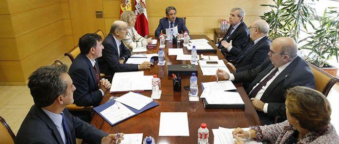 El Ejecutivo cántabro durante una reunión del Consejo de Gobierno.