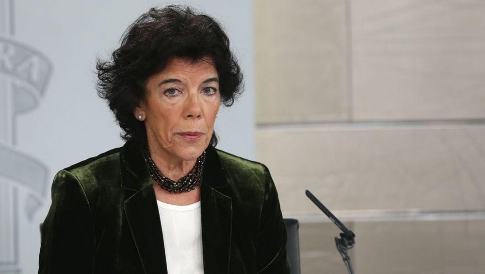 Isabel Celaá, portavoz del Gobierno, tras el Consejo de Ministros (Foto: La Moncloa)