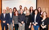 La presidenta del Gobierno balear, Francina Armengol, y consejera de Salud, Patricia Gómez, durante la presentación del Plan Estratégico de Salud Mental 2016-2022