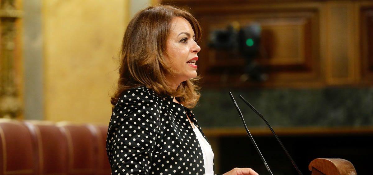 Tamara Raya durante su intervención en el Congreso de los Diputados donde defendió su postura sobre la donación en vida