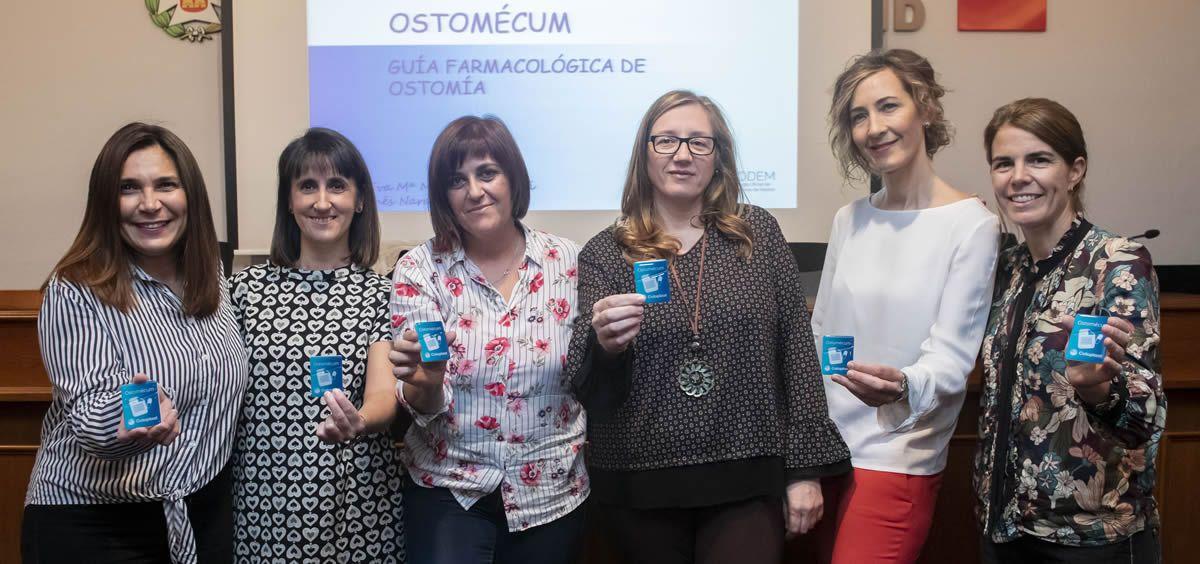 Nélida Puga, Ana Garnica, Inés Naranjo, Marta Pérez, Eva Martínez Savoini y Antonia Gil, algunas de las enfermeras autoras de la guía y la app Ostomécum