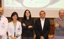 De izda. a dcha.: los doctores Córdoba, Llamas, Rodríguez Pinilla, Rojo y Piris, organizadores del simposio.