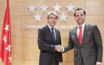 Ángel Garrido, presidente de la Comunidad de Madrid, e Ignacio Aguado, líder de Ciudadanos en la región.