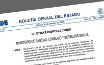 El Boletín Oficial del Estado (BOE) ha publicado la resolución de la Aemps sobre medicamentos homeopáticos.