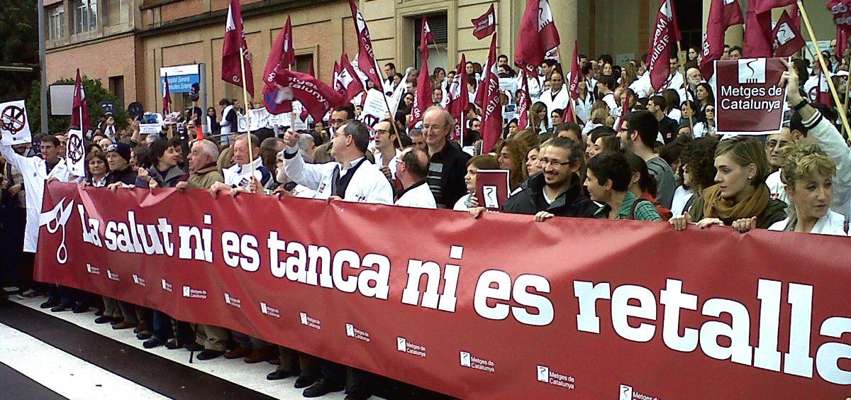 Facultativos de Atención Primaria de Cataluña se preparan para movilizaciones en los próximos meses / Foto: Metges de Catalunya