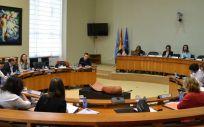 Instantánea de una de las últimas comisiones de Sanidad en el Parlamento de Galicia.