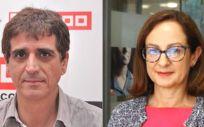 Antonio Cabrera, de CC.OO., y Gracia Álvarez de UGT.