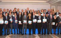 Los respresentantes de los 39 centros hospitalarios reconocidos por la acreditación QH de la Fundación QH