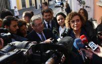 Dolors Montserrat. exministra de Sanidad y actual portavoz del PP en el Congreso, este martes en Sevilla.