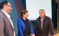 uisa Real junto a Luis Gutiérrez Bardeci (a la derecha de la imagen) y Manuel Isorna (Foto: Raúl Lucio)