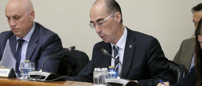El consejero de Sanidad, Jesús Vázquez Almuiña y el gerente del Sergas, Antonio Fernández-Campa.