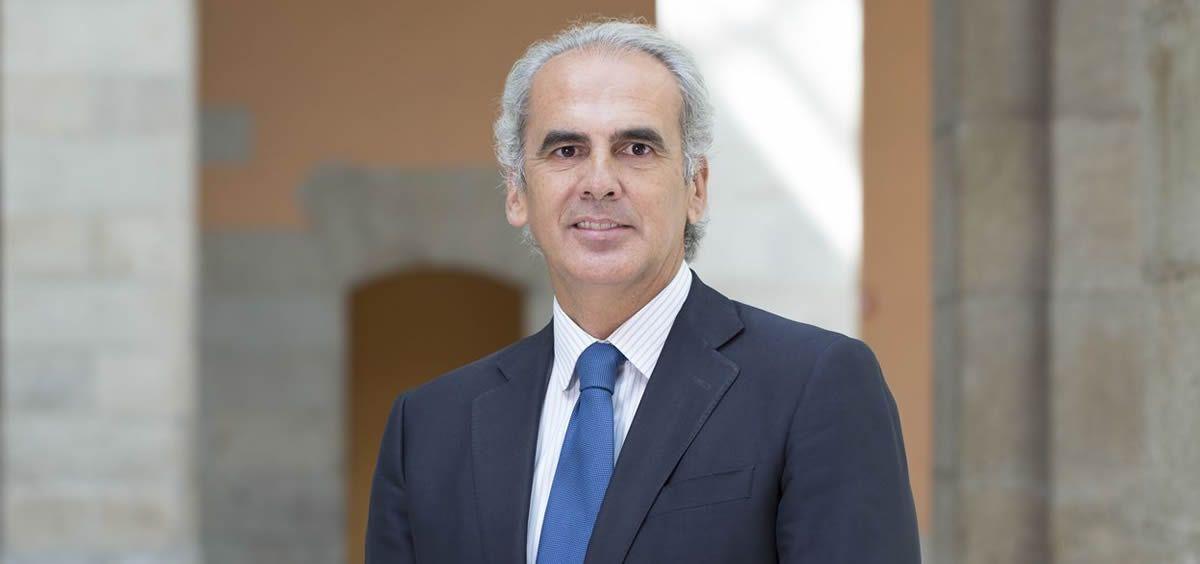 El titular de Sanidad de la Comunidad de Madrid, Enrique Ruiz Escudero.