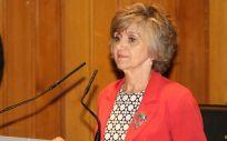 María Luisa Carcedo durante su toma de posesión como ministra de Sanidad, Consumo y Bienestar Social.
