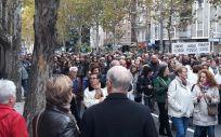 Una instantánea de la manifestación celebrada el pasado domingo por las calles de Salamanca.