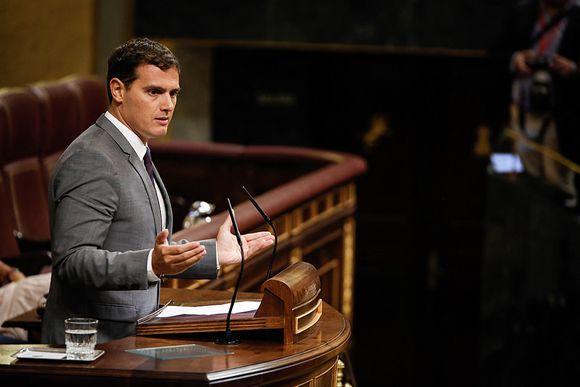 Albert Rivera, líder de Ciudadanos, en el Congreso de los Diputados. (Flickr Congreso de los Diputados)