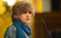 María Luisa Carcedo, ministra de Sanidad durante su intervención en el Pleno del Congreso de los Diputados.