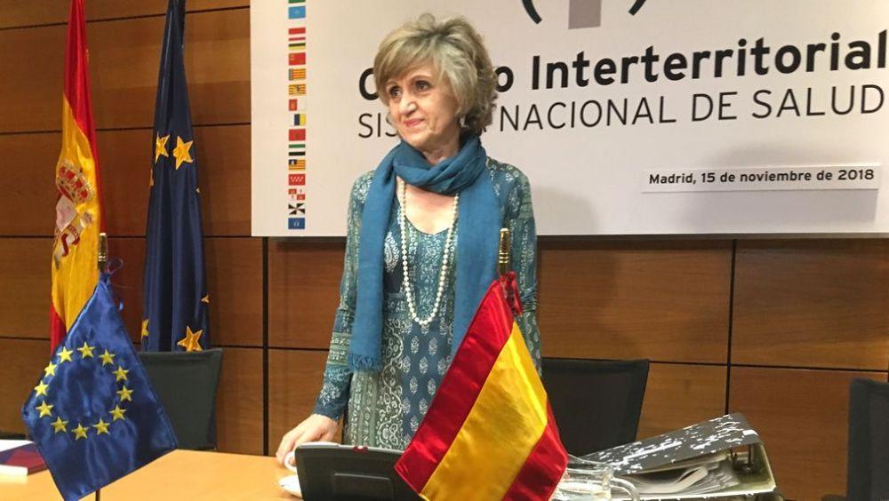 María Luisa Carcedo, ministra de Sanidad, antes de presidir su primer Consejo Interterritorial.