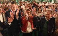 La presidenta de la Junta de Andalucía, Susana Díaz junto al secretario general del PSOE y presidente del Gobierno, Susana Díaz.