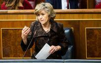 María Luisa Carcedo, exministra de Sanidad, interviniendo en el Congreso de los Diputados (Foto: PSOE)