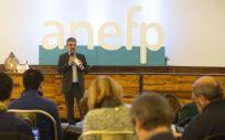 Jaume Pey, director general de anefp, este miércoles durante su intervención