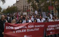 Imágenes de la huelga de médicos de Atención Primaria celebrada en Cataluña en noviembre.