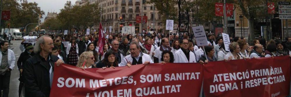 Imagen de la pasada huelga de Primaria en Cataluña