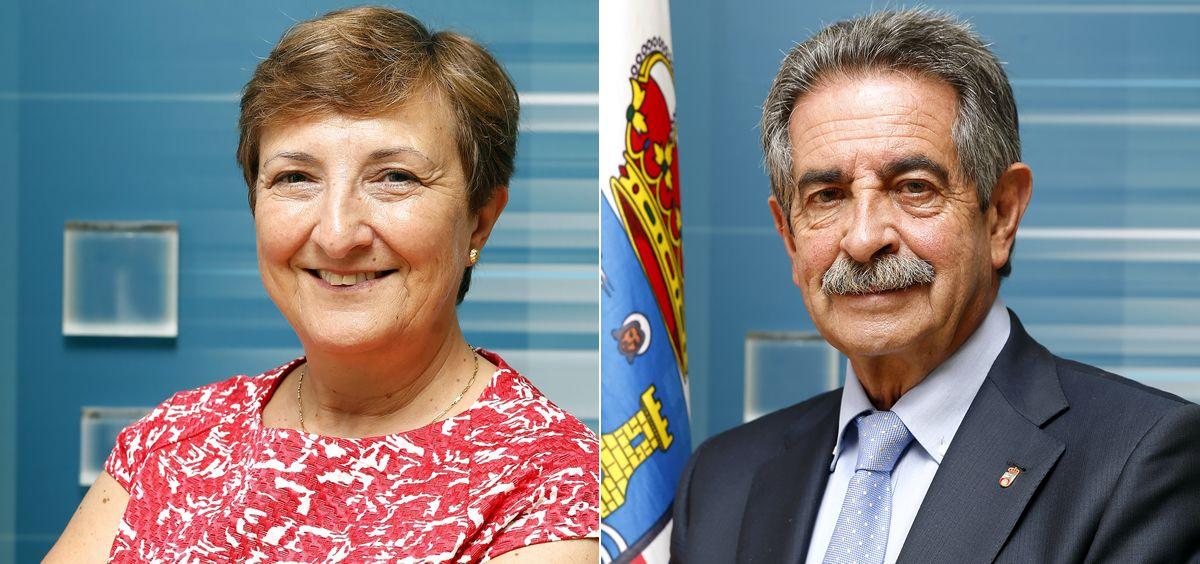 María Luisa real, consejera cántabra de Sanidad, y Miguel Ángel Revilla, presidente de Cantabria.