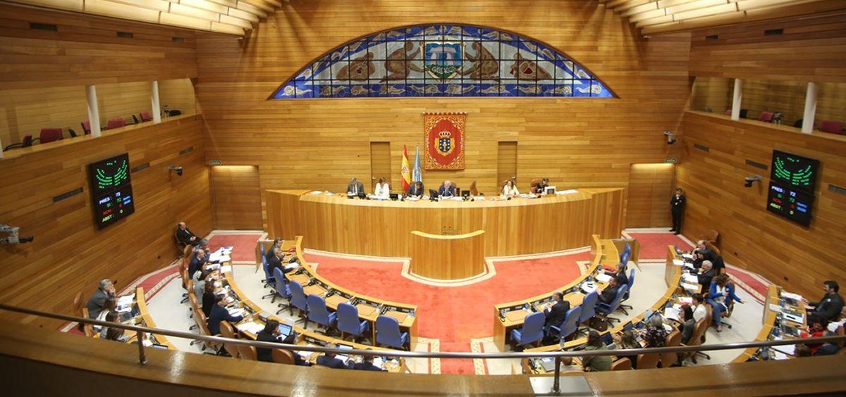 Plenario del Parlamento de Galicia.