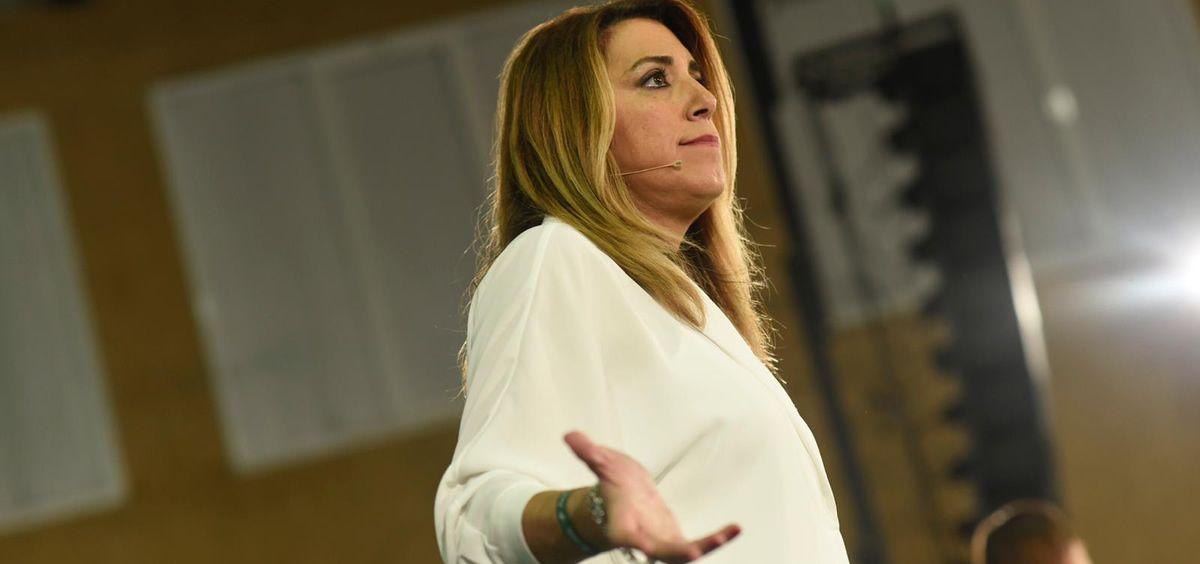 Susana Díaz, candidata del PSOE-A durante un acto de la campaña electoral.