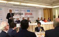 Enrique Ruiz Escudero, consejero madrileño de Sanidad, en los desayunos sociosanitarios de Europa Press.