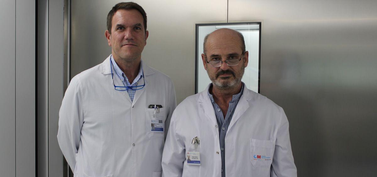 Los doctores Ignacio Muguruza (dcha) y Pablo Fernández
