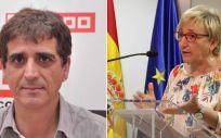Antonio Cabrera, secretario general de la Federación de Sanidad y Sectores Sociosanitarios de CCOO, y Ana Barceló, consejera de Sanidad de la Comunidad Valenciana