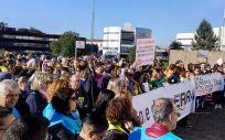 Protestas de los sanitarios gallegos por el estado del Servicio Gallego de Salud (Sergas).