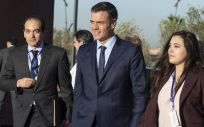 Pedro Sánchez, presidente del Gobierno, durante su visita a la Conferencia Intergubernamental sobre Migraciones, en Marruecos