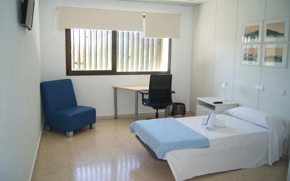 Imagen de una de las habitaciones habilitadas en el antiguo Hospital Can Misses de Ibiza.