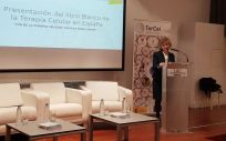 La ministra de Sanidad, Consumo y Bienestar Social, María Luisa Carcedo, durante su intervención este martes