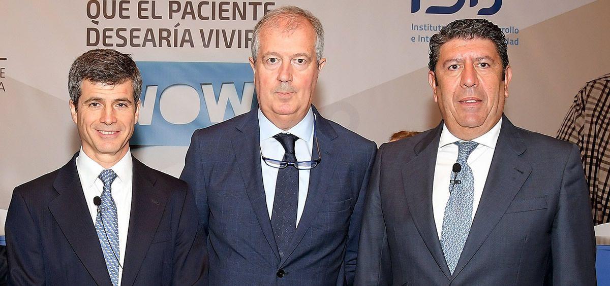 Adolfo Fernández-Valmayor, Luis Mayero y Manuel Vilches, representantes de la Fundación IDIS