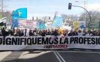 Madrid fue la ciudad elegida por los médicos para desarrollar una gran movilización el pasado 21 de marzo | Foto: Juanjo Carrillo