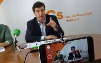 Fernando Giner, portavoz de Ciudadanos en el Ayuntamiento de Valencia