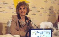 María Luisa Carcedo, ministra de Sanidad, antes de intervenir en los desayunos de Nueva Economía Fórum.