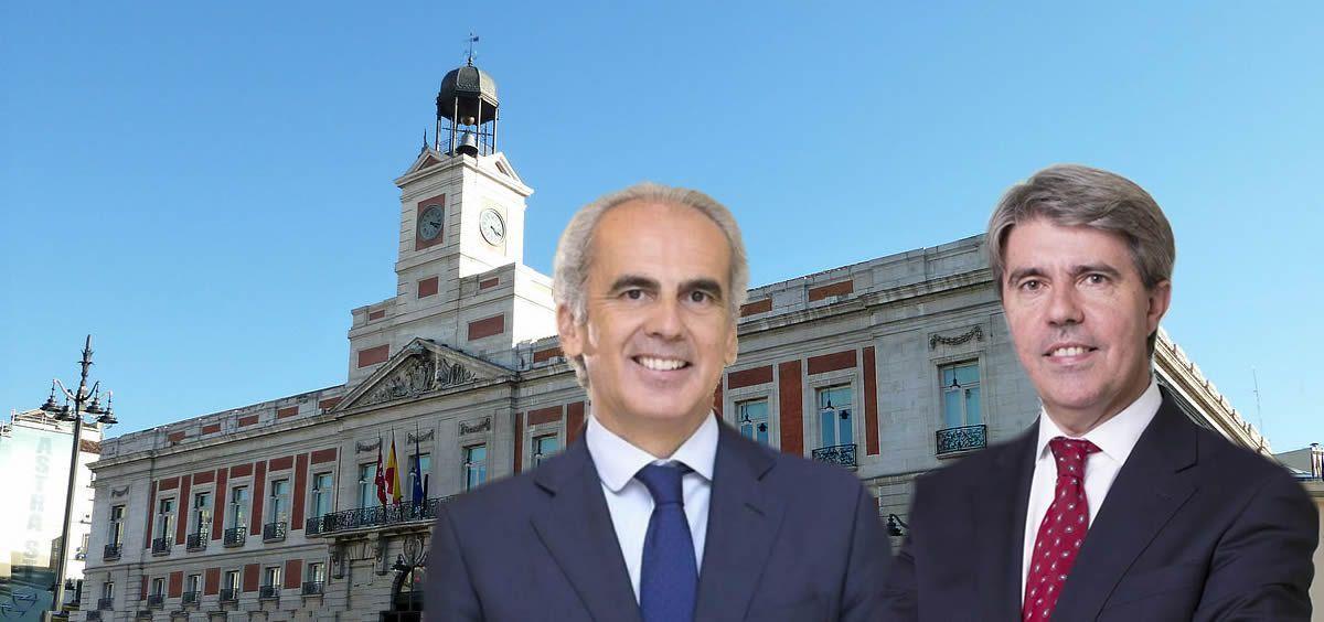 Ángel Garrido y Enrique Ruiz Escudero, presidente y consejero de Sanidad de la Comunidad de Madrid