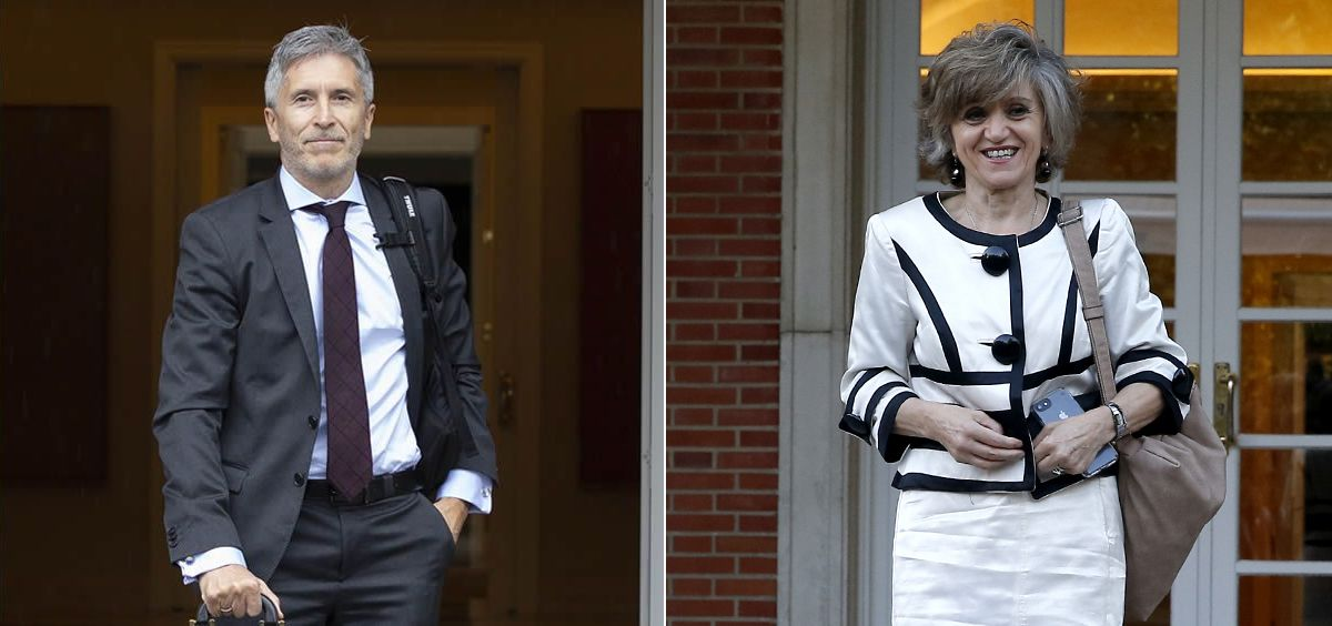 Fernando Grande Marlaska, ministro del Interior, y María Luisa Carcedo, ministra de Sanidad.