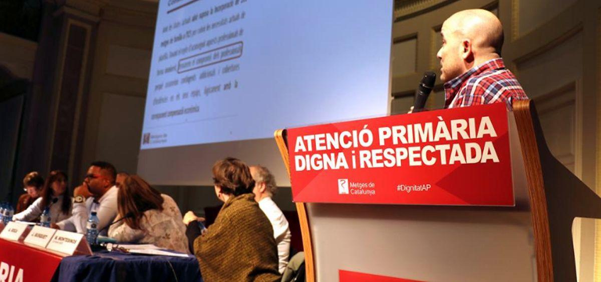 Asamblea informativa del sindicato sobre el acuerdo en Atención Primaria / Foto: Metges de Catalunya